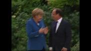 Меркел и Оланд търсят единство за съдбата на еврозоната
