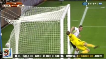 07.07.2010 Германия - Испания 0:1 Гол на Пуйол - Мондиал 2010 Юар