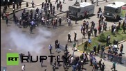 Turkey: Riot police clash with nationalists, Kurds at Erzurum rally