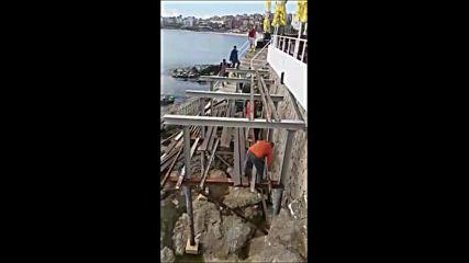 Незаконно строителство на скалите в Созопол 2