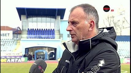 Антони Здравков след равенството с Дунав