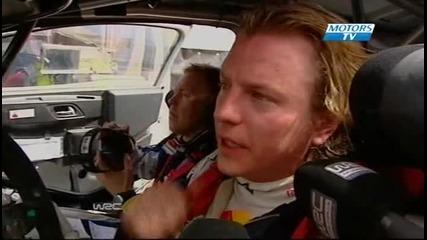 Kimi Raikkonen - Interview - Jorda Rally 2010