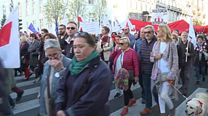 Poland: Thousands march through Warsaw in anti-government rally