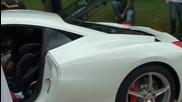 White Ferrari 458 Italia Uk Rhd at Cliveden House