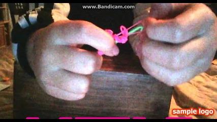 Ето как да си направим цвете от ластици(лесно)