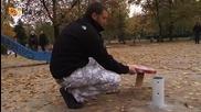 Андрей прави детско столче гъбка