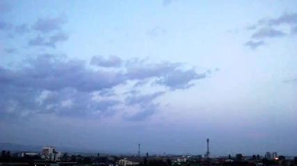 time lapse - идване на вечерта в София 11.8.2014