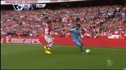 Арсенал изтърва да победи шампиона Сити