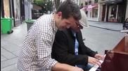 Спонтанен джаз дует / пианист обикаля по света *( Франция, Париж )