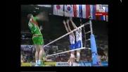 Волейбол : България - Русия - Страхотна точка на Цветан Соколов