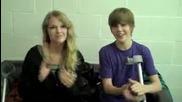 Justin Bieber и Taylor Swift говорят за счупения крак на Justin