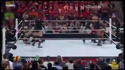 Wwe Raw 4_4_11 - John Cena Vs. Rock In Wrestlemania 28 - (corre Attack Them) _hd_