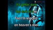 Guns and Roses - Knockin On Heavens Door (karaoke)