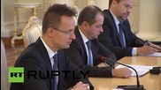 Russia: Lavrov meets with Hungarian FM Szijjarto in Moscow