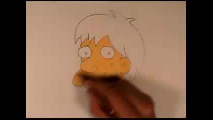 Рисуване на Squeaky Voced Teen (герой от Семейство Симпън)