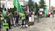 Slovakia: Far-right protests Slovakia's refugee policy in Gabcikovo