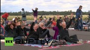 Germany: Activists protest TTIP on runway of abandoned airport