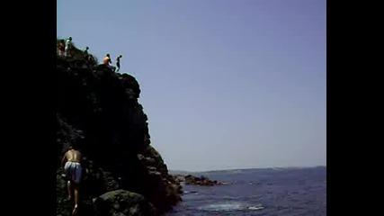 Cliff Dive... 15m