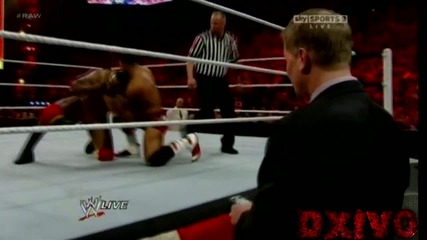 [ H D ] Raw 02/20/2012 : David Otunga Vs. Ezekiel Jackson