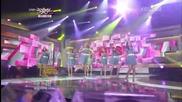 B1a4 & A Pink - Bgn + Summer Story + Twist King + The Sea & Hush @ Music Bank (29.06.2012)