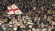 Georgia: 'Georgian Dream' supporters flood Tbilisi ahead of runoffs