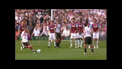 Уест Хям - Манчестър Юнайтед 2 - 1 гол на Рууни
