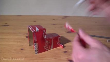 Как да си направим камион на Coca Cola от празни кутийки кока-кола! коледна украса.
