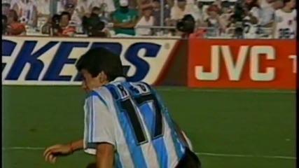 Футбол Аржентина - България 1994 - Първо полувреме - Част 3/4 (високо качество)