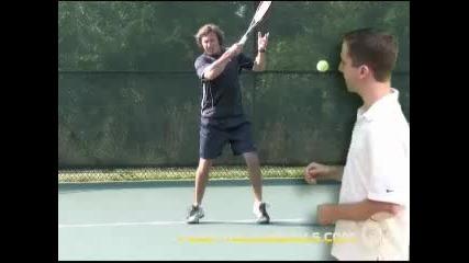 Тенис уроци : Форхенд | Завършваща фаза
