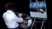 S11 Радостта на живописта с Bob Ross E02 - провинциялна хижа ღобучение в рисуване, живописღ