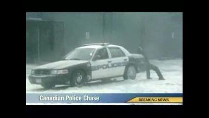 /Смях Полицейско Преследване През Зимата