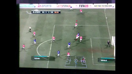 Man Utd Vs Everton Xbox 360 My Gameplay