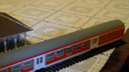 макет Н0 на гара Пю и лок. 07 106 с Пв 81204