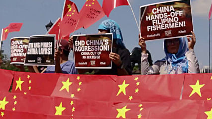 Philippines: Protesters burn Chinese flags after South China Sea incident