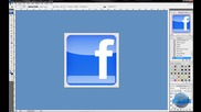 Фейсбук лого с Фотошоп + Cool Electro House