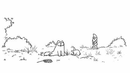 Котето и зайчето