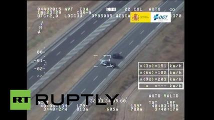 Испания: Шофьор на Порше кара с 218 км/ч