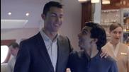 Пеле и Кристиано Роналдо в реклама на Emirates