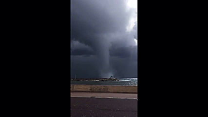 France: Massive waterspout turned tornado hits Corsica port