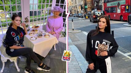 """""""Кралицата се снима с кралицата"""": Преслава отиде в Лондон и се щракна с Елизабет II (ама не съвсем)"""
