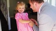 Най-красивата първа среща - баща и неговата дъщеря