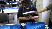 Световен рекорд на нареждането на кубчето Рубик - 28.80 сек.