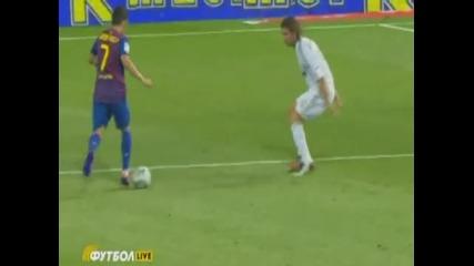 Изумителен гол на Давид Вия - Real Madrid vs Barcelona 1-1