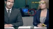 Гавра с Бойко Борисов в Бтв Новините Господари на Ефира 18.02.2010