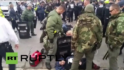 USA: Over 60 protesters arrested outside police chiefs' conference in Chicago