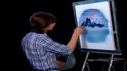 S10 Радостта на живописта с Bob Ross E09 - планина в овал ღобучение в рисуване, живописღ