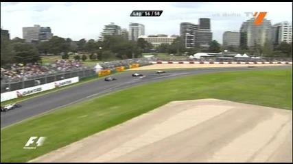 Гп Австралия 2010.57 - ма обиколка на Хамилтън - сблъсък!