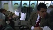 Г-н Бийн на летището! Смях!