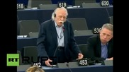 Belgium: 91-year old Syriza rep. rips into EP President Schulz