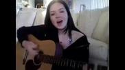 Моммиче пее Риана - Амбрела и свири на китара